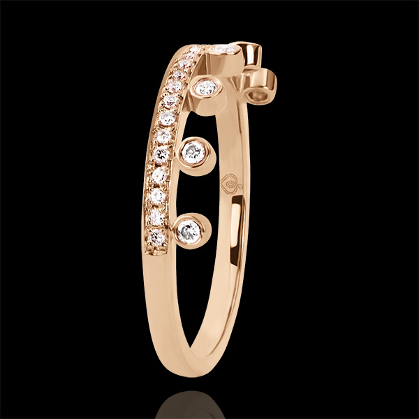 Ring Vielfalt - Majestät - 9 Karat Roségold und Diamanten