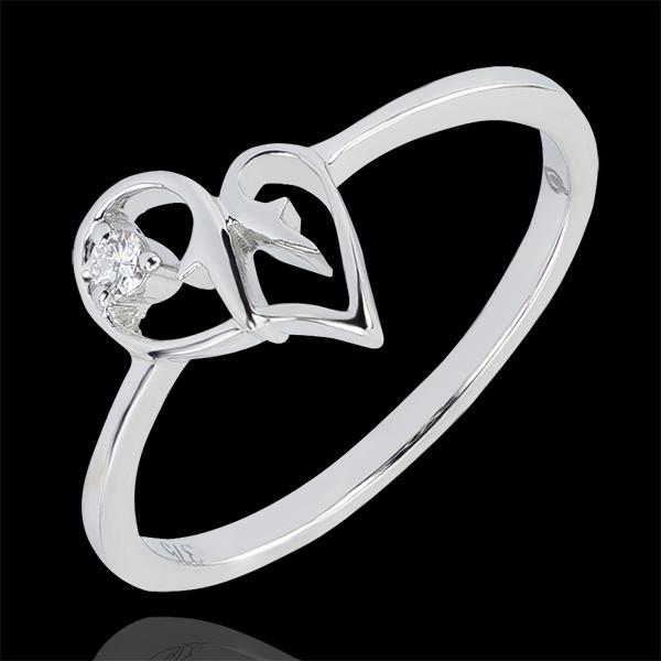 Ring Vielfalt - Versuchung - 18 Karat Weißgold und Diamant
