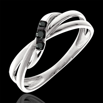 Trilogy Ring Circumference black diamonds