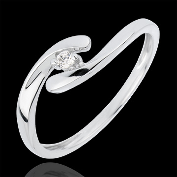 Solitaire Precious Nest - My Dear - white gold - 18 carats