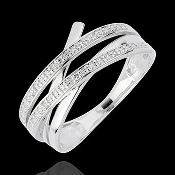 White Gold Vortex Ring - 6 Diamonds