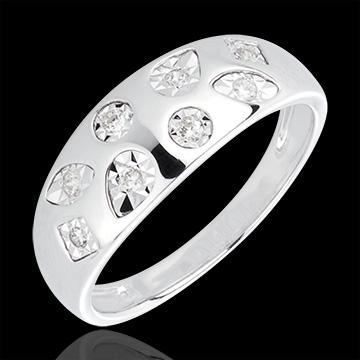 AP1568 - White Gold and Diamond Tutti Frutti Ring