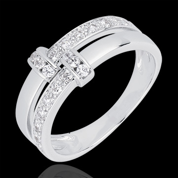 White Gold and Diamond Istria Ring