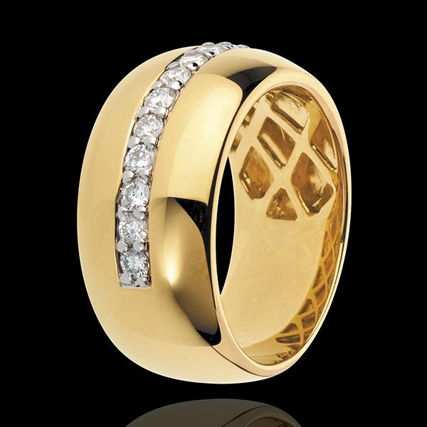 Ring Zauberwelt - Sonnenglanz - Gelbgold - 11 Diamanten: 0.37 Karat