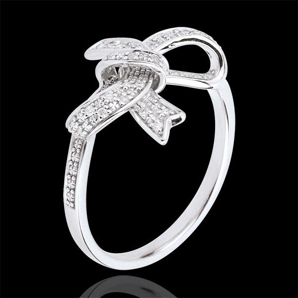 Ring Zeldzame Knoop - zilver en Diamant