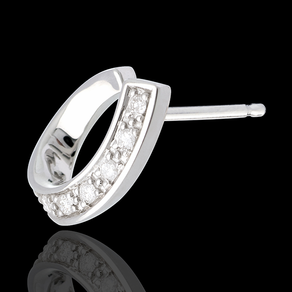 Ringlet earrings-white gold
