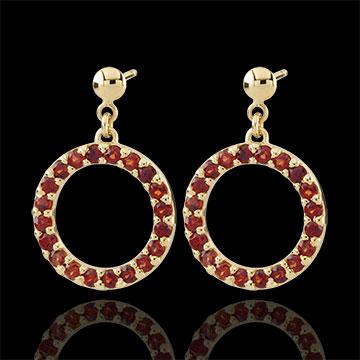 Roseline Garnet Earrings