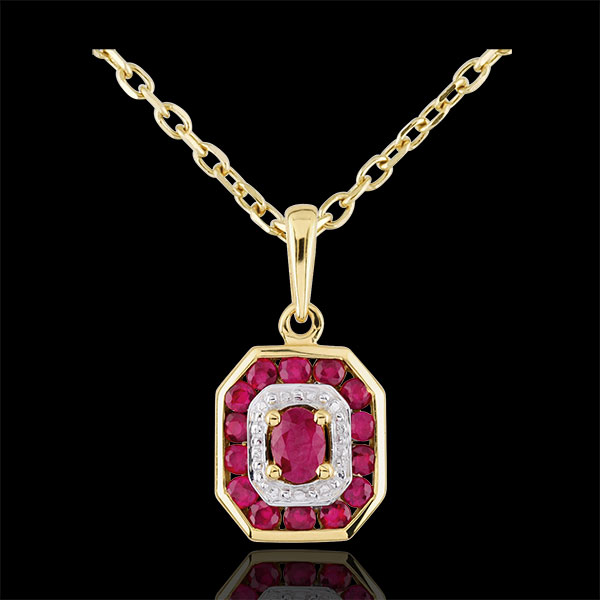Ruby-studded Oriade Pendant