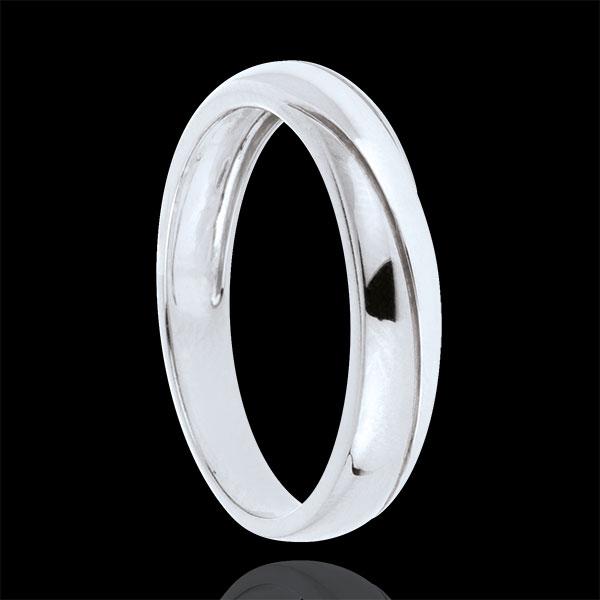 Saturn Trilogy Wedding Ring - White gold - 9 carat