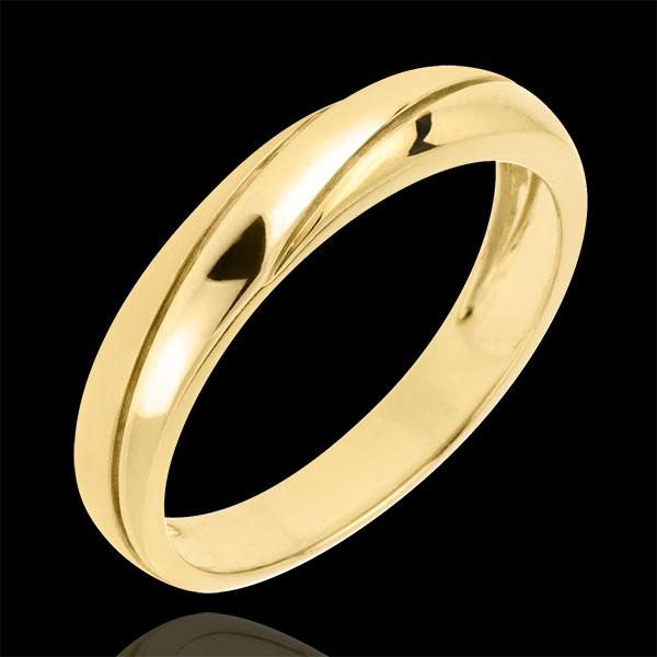 Saturn Trilogy Wedding Ring - Yellow gold - 9 carat