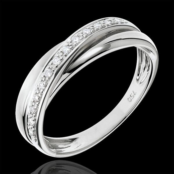 Saturnring Diamant - Weißgold - 18 Karat