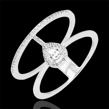 Seraphine ring - 18K white gold and diamonds