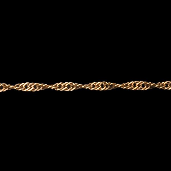 Skręcony łańcuszek Singapur z żółtego złota 18-karatowego 42 cm