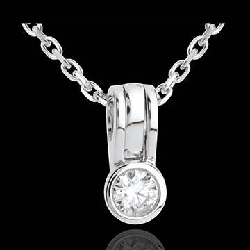 Snap diamond pendant - 0.21 carat