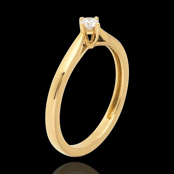 Solitaire Allure - diamant 0.11 carat - or jaune 18 carats