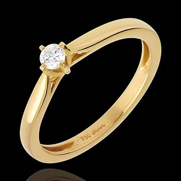 Solitaire Allure - Diamant 0.11 karaat - 18 karaat geelgoud