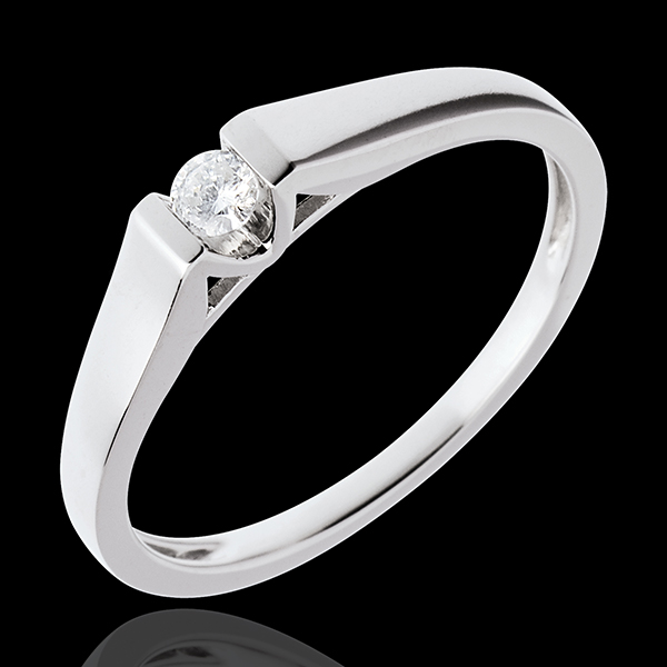 Solitaire arche or blanc 18 carats