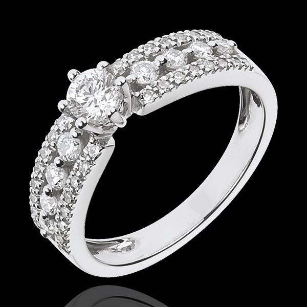 Solitaire Destinée - Tsarine - or blanc 18 carats - diamant 0.27 carat