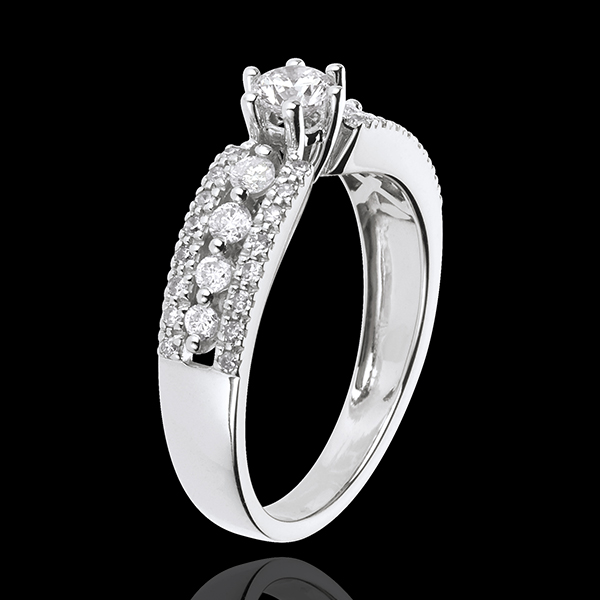 Solitaire Destiny - Tsarina - 18 karaat witgoud - 0,27 karaat Diamant witgoud
