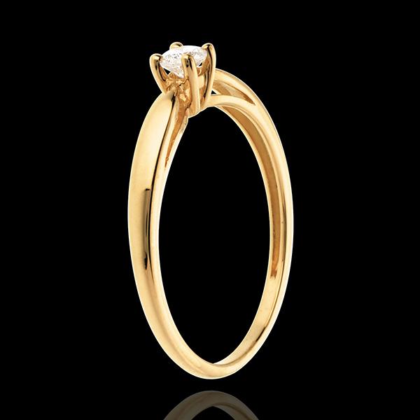 Solitaire Mlădiere aur galben de 18K - 0.13 carate
