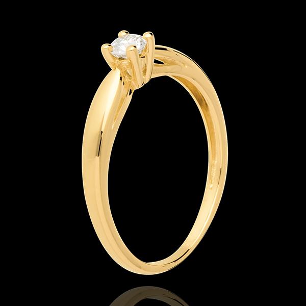 Solitaire Mlădiere aur galben de 18K - 0.16 carate