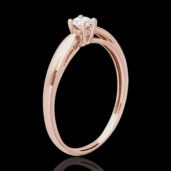 Solitaire mlădiere aur roz de 18K - 0.13 carate