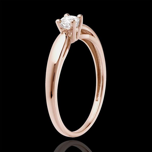 Solitaire mlădiere aur roz de 18K - 0.16 carate