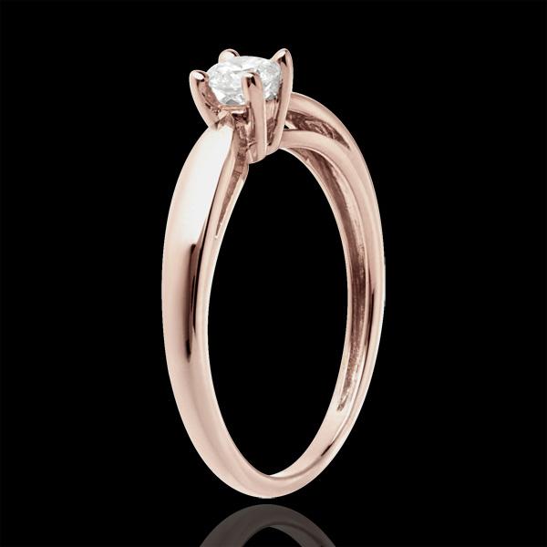 Solitaire mlădiere aur roz de 18K - 0.21 carate