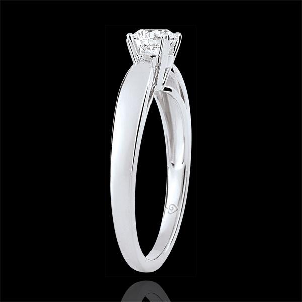 Solitaire mlădiere - diamant 0.4 carate - aur alb de 9K