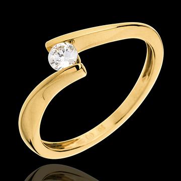 Solitaire Nid Précieux - Apostrophe - or jaune 18 carats - diamant 0.16 carat
