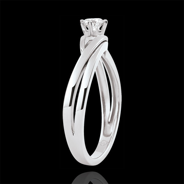 Solitaire Nid Précieux - Dova - Diamant 0.15 Karat - Weißgold 9 Karat
