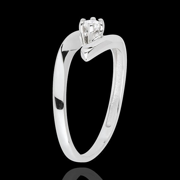Solitaire Nid Précieux - Orion - or blanc 18 carats