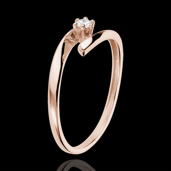 Solitaire Nid Précieux - Orion - or rose 18 carats