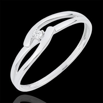 Solitaire Nid Précieux - Union Blanche - or blanc 18 carats