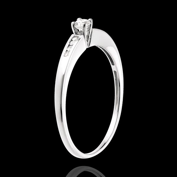 Solitaire Octavă aur alb de 18K - diamant 0.07 carate