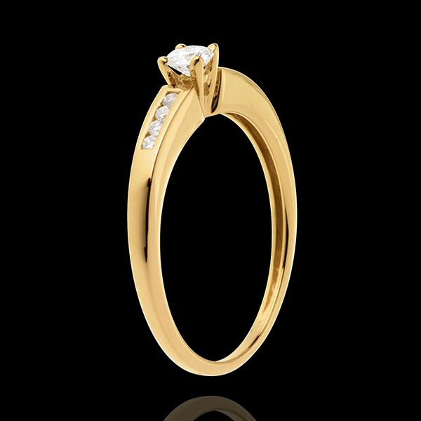 Solitaire Octave or jaune 18 carats - diamant 0.13 carat