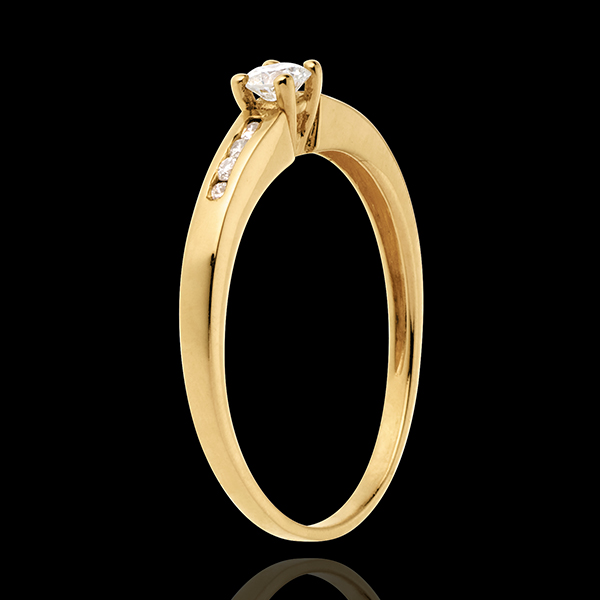 Solitaire Octave or jaune 18 carats - diamant 0.16 carats