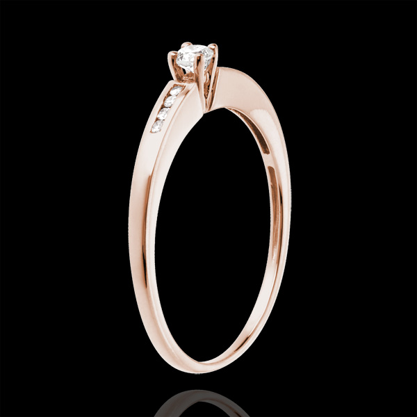Solitaire Octave or rose 18 carats - diamant 0.07 carat