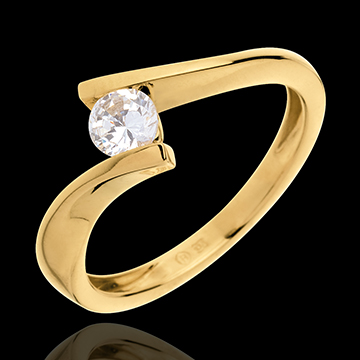 Solitaire Precious Nest - Apostrophe - yellow gold - 0.31 carats . 18 carats
