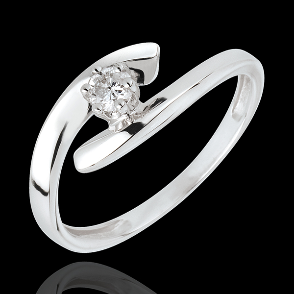 Solitaire Precious Nest - Orion - white gold - 18 carats