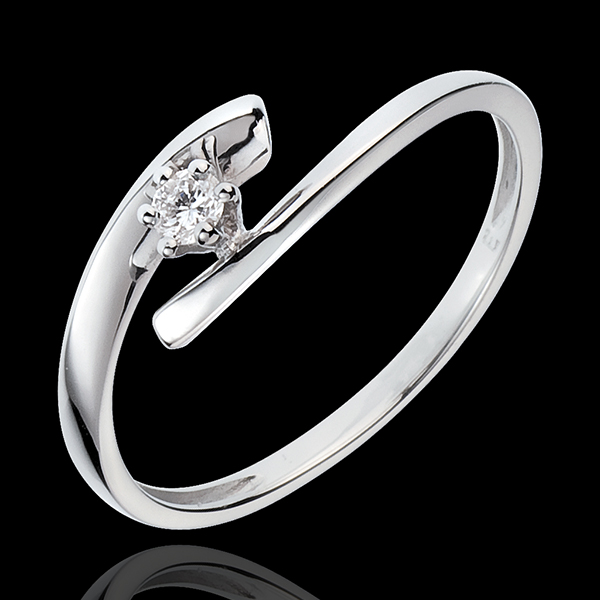 Solitaire Precious Nest - Orion - white gold - 18 carats