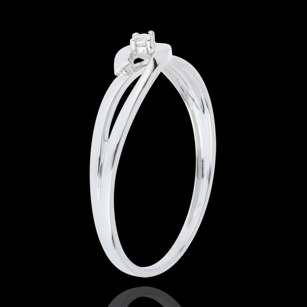Solitaire Precious Nest Ring - White Union - white gold - 18 carats