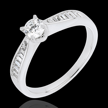 Solitaire Pure or blanc 18 carats