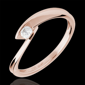 Solitaire Ring Inlet - Pink gold
