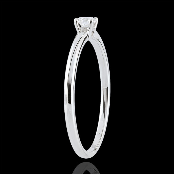 Solitaire Ring Ja - 0.1 karaat - 18 karaat witgoud