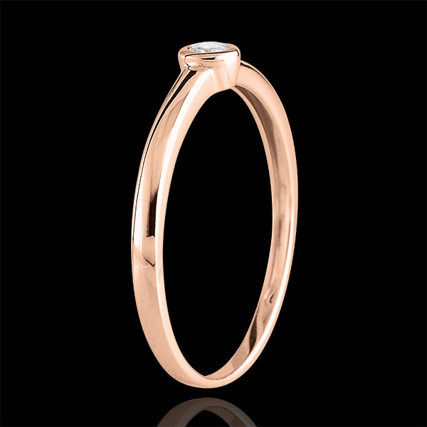 Solitaire Ring My Diamond– Pink gold – 0.08 carats – pink gold 18 carats