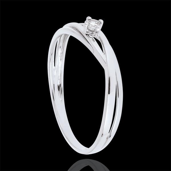 Solitaire Ring Precious Nest - Dova - white gold - 0.03 carat diamond - 18 carats