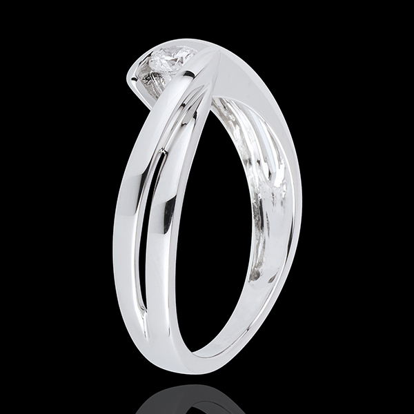 Solitaire Ring Precious Nest - Mont Diamant - white gold - 18 carats