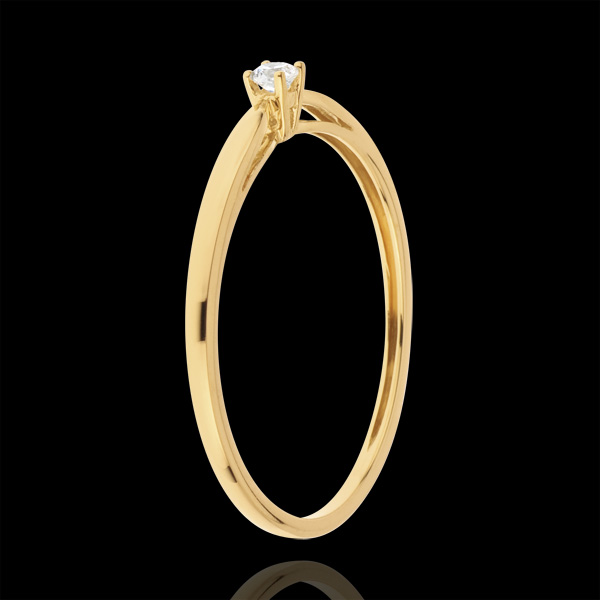 Solitaire Ring Riet - 0.04 karaat - 18 karaat witgoud