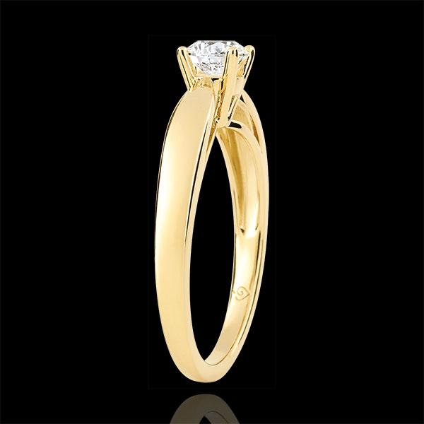 Solitaire roseau - diamant 0.4 carat - or jaune 9 carats
